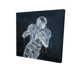 Canvas 24 x 24 - 3D - Football player