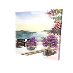 Canvas 24 x 24 - 3D - Mediterranean sea view