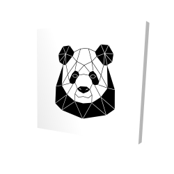 Canvas 36 x 36 - 3D - Geometric panda
