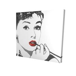 Canvas 24 x 24 - 3D - Audrey hepburn outline style