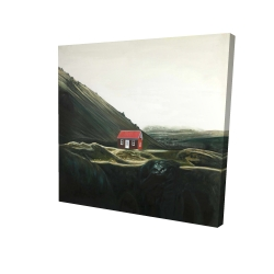 Canvas 24 x 24 - 3D - Isolated shack