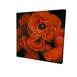 Canvas 24 x 24 - 3D - Poppy bouquet