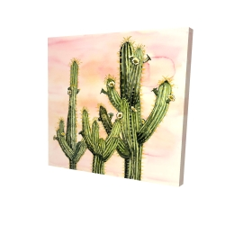 Canvas 24 x 24 - 3D - Weberocereus cactus