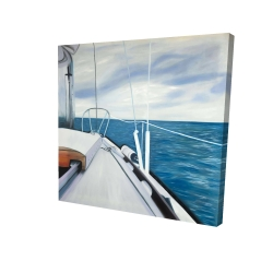 Canvas 24 x 24 - 3D - Sail on the water