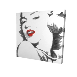 Canvas 24 x 24 - 3D - Marilyn monroe outline style