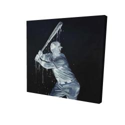 Canvas 24 x 24 - 3D - Baseball player