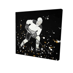 Canvas 24 x 24 - 3D - Hockey player in action
