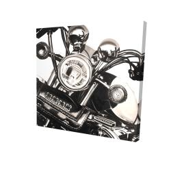 Toile 24 x 24 - 3D - Moto réaliste sépia