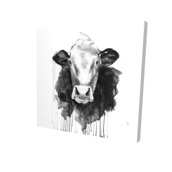 Canvas 24 x 24 - 3D - Cow