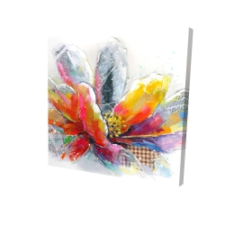 Canvas 24 x 24 - 3D - Abstract flower with texture