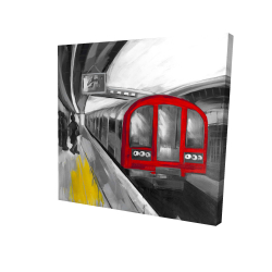 Canvas 24 x 24 - 3D - Waiting subway