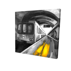 Toile 24 x 24 - 3D - Vie urbaine