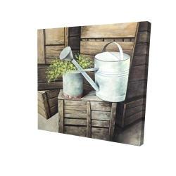 Canvas 24 x 24 - 3D - Vintage watering can