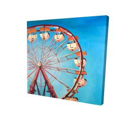 Canvas 24 x 24 - 3D - Ferris wheel by a beautiful day