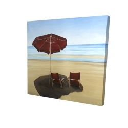 Canvas 24 x 24 - 3D - Relax at the beach