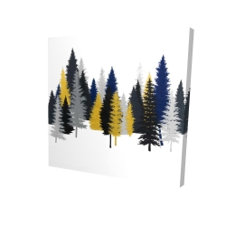 Canvas 24 x 24 - 3D - Golden fir