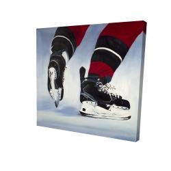 Canvas 24 x 24 - 3D - Hockey player