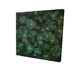 Canvas 24 x 24 - 3D - Clovers