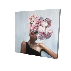Canvas 24 x 24 - 3D - See life in flowers