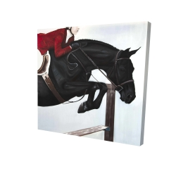 Canvas 24 x 24 - 3D - Riding competition