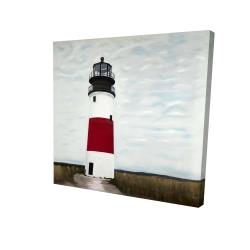 Canvas 24 x 24 - 3D - Sankaty head lighthouse