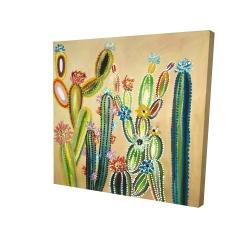 Canvas 24 x 24 - 3D - Desert gems