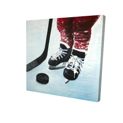 Canvas 24 x 24 - 3D - Young hockey player