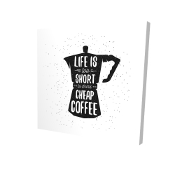 Canvas 24 x 24 - 3D - Life and coffee