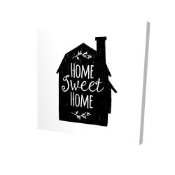 Canvas 24 x 24 - 3D - Home sweet home