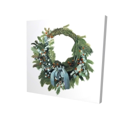 Canvas 24 x 24 - 3D - Christmas wreath