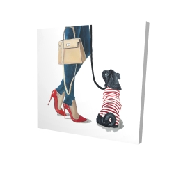 Canvas 24 x 24 - 3D - Best friends fashion