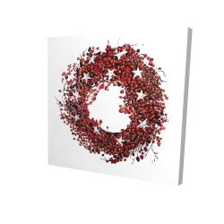 Canvas 24 x 24 - 3D - Red berry wreath