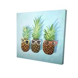 Canvas 24 x 24 - 3D - Summer pineapples