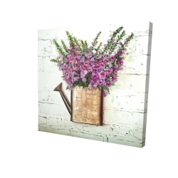 Canvas 24 x 24 - 3D - Purple foxglove flowers