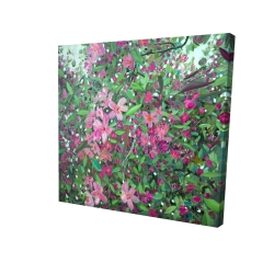 Canvas 24 x 24 - 3D - Cherry tree blooming