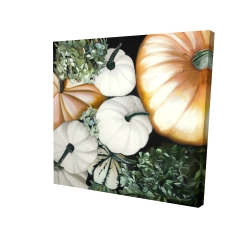 Canvas 24 x 24 - 3D - Fall pumpkins