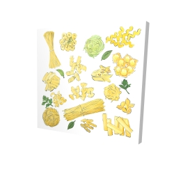 Canvas 24 x 24 - 3D - Various kind of pasta