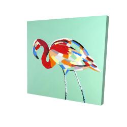 Multicolored flamingo