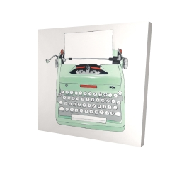 Canvas 24 x 24 - 3D - Mint typewriter
