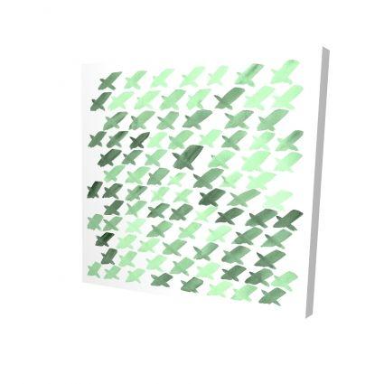 Motif de x vert