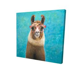 Canvas 24 x 24 - 3D - Lovable llama