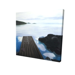 Canvas 24 x 24 - 3D - Evening on the dock