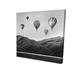 Canvas 24 x 24 - 3D - Air balloon landscape