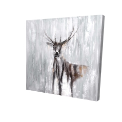 Canvas 24 x 24 - 3D - Abstract deer in the forest