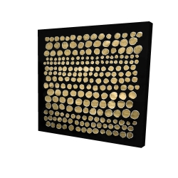 Canvas 24 x 24 - 3D - Dots on gold