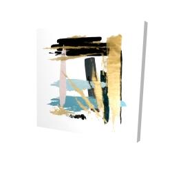 Canvas 24 x 24 - 3D - Pastel stroke