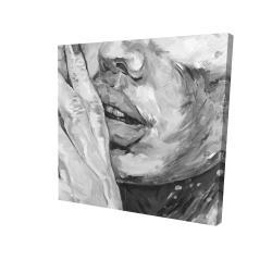 Canvas 24 x 24 - 3D - Luscious lips