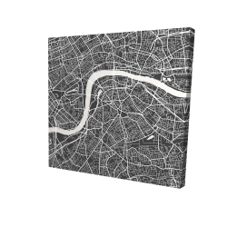 Canvas 48 x 48 - 3D - Graphic map of london