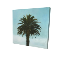 Canvas 24 x 24 - 3D - Tropical palm
