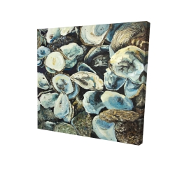 Canvas 24 x 24 - 3D - Oyster shells